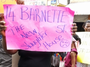 A protest outside the Barnett Street Police Station in Montego Bay following the death of Mario Deane last summer. What is wrong with our police force? (Photo: Jamaica Gleaner)