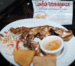 Lionfish on the menu! (Photo contributed by Leo Douglas)