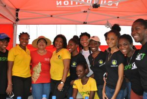 Despite the politicking over the amounts allocated for Labour Day projects, much good work was done. Here are the Digicel Foundation, Positive Organization and Respect Jamaica volunteers in Trench Town, (with Digicel Foundation's Kemesha Kelly (2nd left) and Foundation Chair Jean Lowrie-Chin (in straw hat). Photo: Twitter
