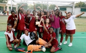 Field hockey is pretty big at St. Andrew High School. Here the girls celebrate another big win in 2010. (Photo: St. Andrew High School Museum blog)