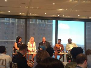 Executive Director of J-FLAG Dane Lewis (center) participating in a discussion at the Ford Foundation on the first day of the 2016 High Level Meeting on Ending AIDS. (Photo: J-FLAG)