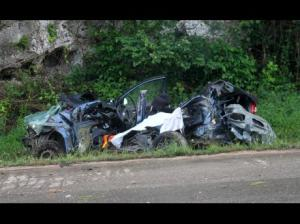 Four Jamaicans died in this crash in Braco, Trelawny last year. (Photo: Gleaner)