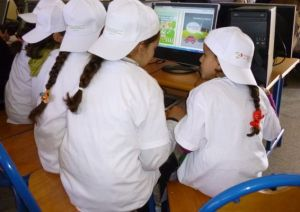 Young girls in Marrakech learn about renewable energy at UNESCO's Eco-School Program.