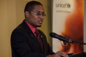 State Minister for Education, Youth and Information, Hon. Floyd Green, addressing the UNICEF 'Keep the Children Safe from Sexual Violence' forum back in April. (Photo: JIS)