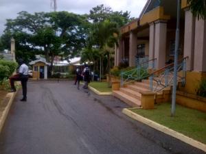 MOCA representatives outside the Manchester Parish Council building. (Photo: Jamaica Observer)