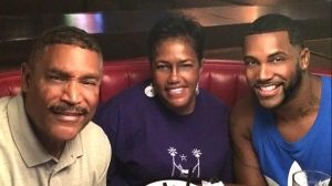 Shane Tomlinson, 33, with his parents, Stephen and Corliss in better days. Shane, of Jamaican descent, was killed at the Pulse Nightclub in Orlando, Florida on June 12. (Photo: wsoctv.com)