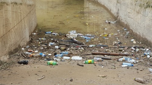 Garbage in the South Gully in the vicinity of Dome Street, Montego Bay. (Photo: Jamaica Environment Trust)