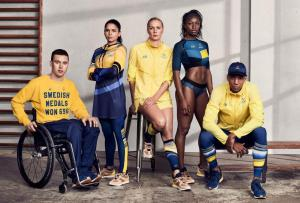 Swedish label H&M designed their Olympic costumes. Looking good.