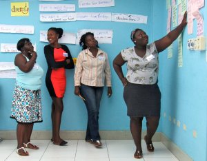 Women from inner-city communities talk about their issues at a recent workshop at the University of Technology, conducted by the 51% Coalition in partnership with Fi Wi Jamaica, funded by UN Women. (My photo)