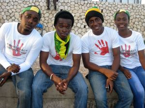 Members of the Jamaica Youth Theatre, who performed at the launch of the Southern Conference Basketball League in Arnett Gardens, sponsored by National Integrity Action. (Photo: Facebook)