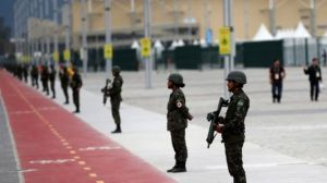 The military are to begin patrolling sports venues from July 24, authorities say. Yes, security IS an issue. (Photo: Reuters)