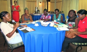 A group from Mary Seacole Hall's I'm Glad I'm a Girl Foundation made many interesting contributions to the discussion on the Global Media Monitoring Report. (My photo)