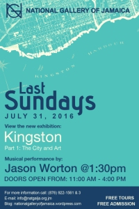 "In my view, the National Gallery of Jamaica has done a great job in recent years of attracting more of the general public to the gallery, with some terrific exhibitions too. ""Last Sundays"" has been a nice innovation. Here's next week's event."