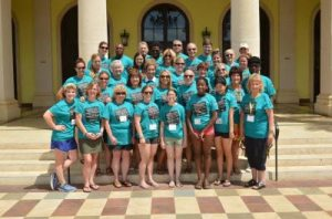 Volunteers from Great Shape! Inc pose for their photo at Sandals Whitehouse in Westmoreland. (Photo: Jamaica Observer)