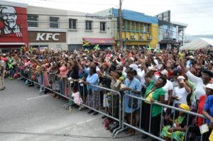 "The Hallelujah session attended by hundreds in Spanish Town, who believe that shouting ""Praise the Lord!"" is going to wish away crime. (Photo: Joseph Wellington/Jamaica Observer)"