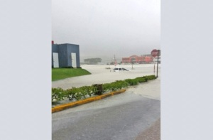 Flooding in Montego Bay after rains associated with Tropical Storm Earl earlier this week. (Photo: Jamaica Observer)