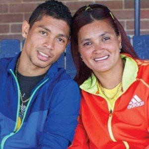 South African gold medalist Wayde van Niekerk and his mother