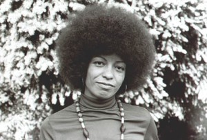 Political activist, scholar and writer Angela Davis in the days of Black Power. She is Professor Emerita of Feminist Studies at the University of California/Santa Cruz.