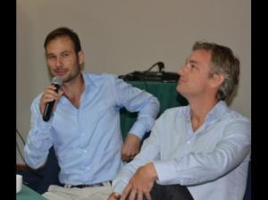 Dr Alexander van Oudenhoven (left) and Senior Coastal Engineer at the Deltares Institute, Arjen Luijendijk.