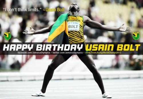 It's a little late to wish our superb sprinting hero Usain Bolt a happy 30th birthday! But let us do it, anyway…This meme is 3 years old actually, but I like it...