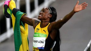 Congratulations to the marvelous Jamaican sprinter Elaine Thompson, the first woman to win the 100 meters and 200 meters gold medals for the first time in 28 years.