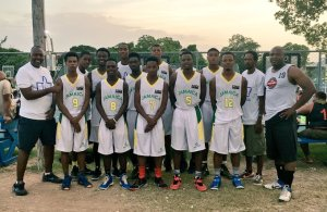 Here's the Jamaica National Youth Team from Ardenne, Camperdown, Calabar, KC, GC Foster, Excelsior and George's College, at the Breds Foundation's basketball camp. (Photo: Twitter)