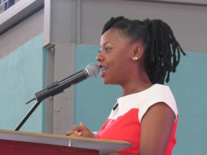 Empressz Golding: PTSD is a real concern among our young people. (My photo)