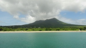Mount Nevis may well be a good source of geothermal energy for the island. (Photo: Desmond Brown/IPS)