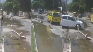 Sewage on the street in Christian Pen, Portmore - a problem the residents have suffered from for months. (Photo: Loop Jamaica)