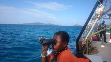 A future biologist, I hope! Near Clifton, Union Island in the Grenadines. (Photo from the Facebook page of Sustainable Grenadines, who supported a special workshop on seabirds this summer).