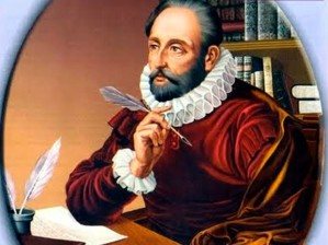 """In order to attain the impossible, one must attempt the absurd."" Miguel de Cervantes (note his left hand is not shown)..."