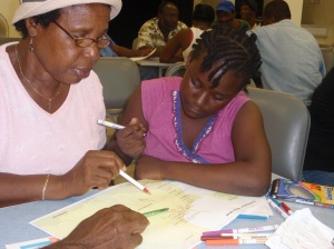 Community consultations in Chateaubelair, St. Vincent. (Photo: UNEP-CEP)