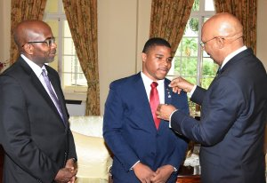 Chevano Baker is the JN Foundation's Legacy Scholar. He has just arrived in the UK to study at Birmingham University. Here he is recently, being appointed as an I Believe Ambassador by Governor General Sir Patrick Allen during a courtesy call at Kings House. (Photo: JN Foundation/Twitter)