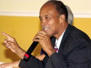 Dr. Karl Blythe, who is challenging Portia Simpson Miller for the leadership of the People's National Party,  made a rather nasty comment about her, which he had to retract. (Photo: Gleaner)