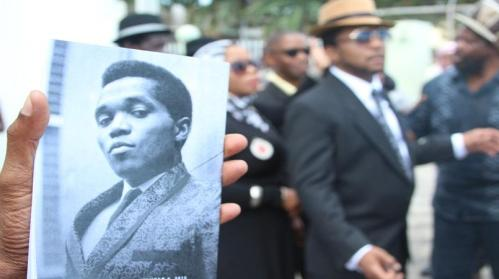 """Prince Buster's funeral at the Central Masjid in Kingston yesterday. Often called the """"Godfather of Ska,""""Cecil Bustamante Campbell was born in Orange Street, Kingston in 1938 and  died on September 8 this year in Miami. (Photo: Loop Jamaica)"""