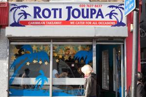 Roti Joupa on Clapham High Street, SE London. (Photo: Tezeta Press)