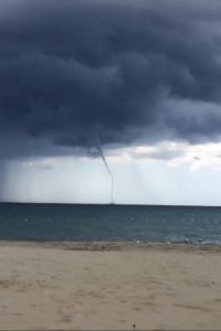 Some waterspouts weret seen off the coast today. (Photo: Twitter)