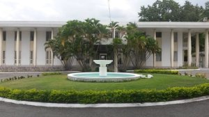 Jamaica House, the Office of the Prime Minister.