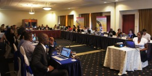 Delegates at the 2nd Scientific & Technical Committee for the LBS Protocol discussion the 2015/16 Work Plan in Managua, Nicaragua. (Photo: United Nations Environment Programme - Caribbean Environment Programme)