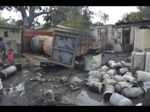 Illegal, unregulated backyard businesses - junkyards, garages, etc. - can prove extremely hazardous. An explosion at an illegal gas container plant in the residential area of Jacques Road, Kingston killed and injured several people recently. (Photo: Gleaner)