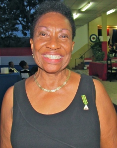 The marvelous Merline Bardowell, O.D., JP. is Vice Chair of the RAFA Jamaica (580) Branch. Her late husband Keith gave valiant service in the RAF and devoted much of his life to serving Jamaican veterans. (My photo)