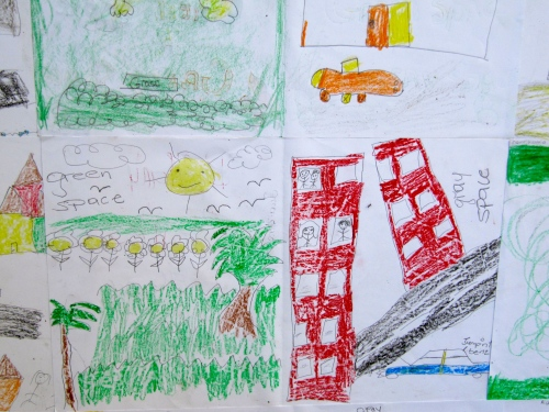 Local Government must help to make Jamaica - especially our urban areas - an inclusive, happy, sustainable environment. Can we achieve this? Here's a drawing by a student participating in a Jamaica Environment Trust Earth Day event for schools in 2013. (My photo)