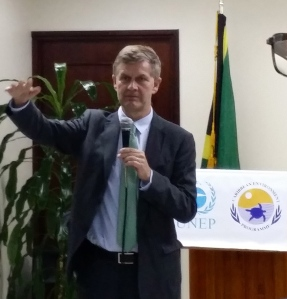Erik Solheim: The Caribbean has three major environmental issues to deal with. (My photo)