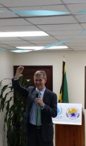 UNEP Executive Director Erik Solheim, thinking the big issues. (My photo)