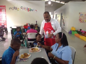 A Christmas touch of kindness for children with disabilities: Mr. Audley Evans and the staff of AAA Financial provided a treat for the children at The STEP Centre in Kingston. (Photo: thestepcentre.blogspot.com - do read some great articles on disability issues by Leslie Wan on this blog).