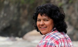 The courageous Berta Caceres campaigned against the construction of a hydroelectric dam project because of the impact it would have on the territory of the Lenca Indigenous people. She was murdered at her home in La Esperanza, Honduras on March 3, 2016. (Photo: Amnesty International)