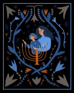 Here's a beautiful Hanukah picture from the blogging site, Tumblr. (What happened to my Tumblr account? I must try to revisit it, it is now dormant!)