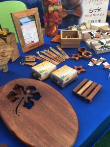 A display by Bartley's All in Wood at the annual Potters Fair in Kingston - including original designs by Lacy-Ann Bartley. (Photo: Marcia Forbes/Twitter)
