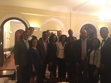 Members of the Jamaica Youth Advisory Council (chaired by UWI graduate Aubrey Stewart), which was launched in November. The Council consists of 16 young people who will focus on the achievement of its objectives related to the Ministry of Education, Youth and Information and its departments and agencies for the year 2016/17. This photo was tweeted by British High Commissioner David Fitton.