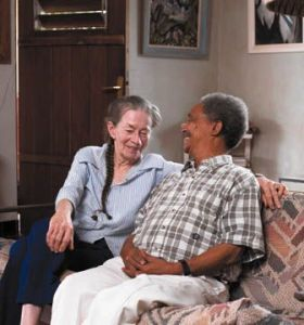 Peter Abrahams and his wife Daphne in happier days at Coyaba. (Photo: Caribbean Beat)